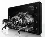 Black horses emerge from the LG Optimus 3D Max's display