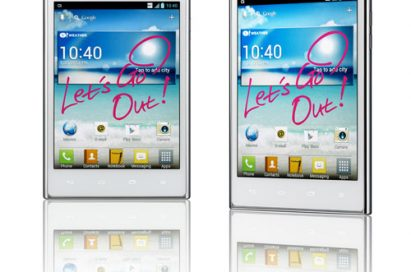 Front and 15-degree views of LG Optimus Vu: