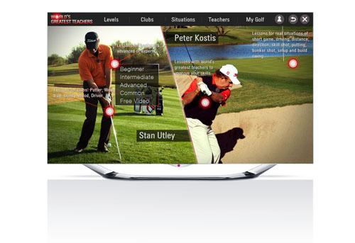 LG SMART TV APP HELPS ASPIRING GOLFERS PLAY LIKE PROS   LG