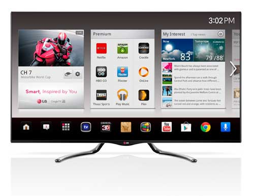 LG TO UPDATE GOOGLE TV WITH LATEST ANDROID 4