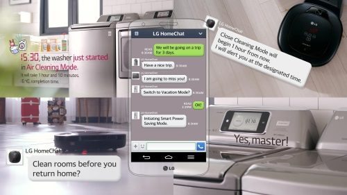 AT CES 2014, LATEST SMART APPLIANCES FROM  LG CHAT WITH U