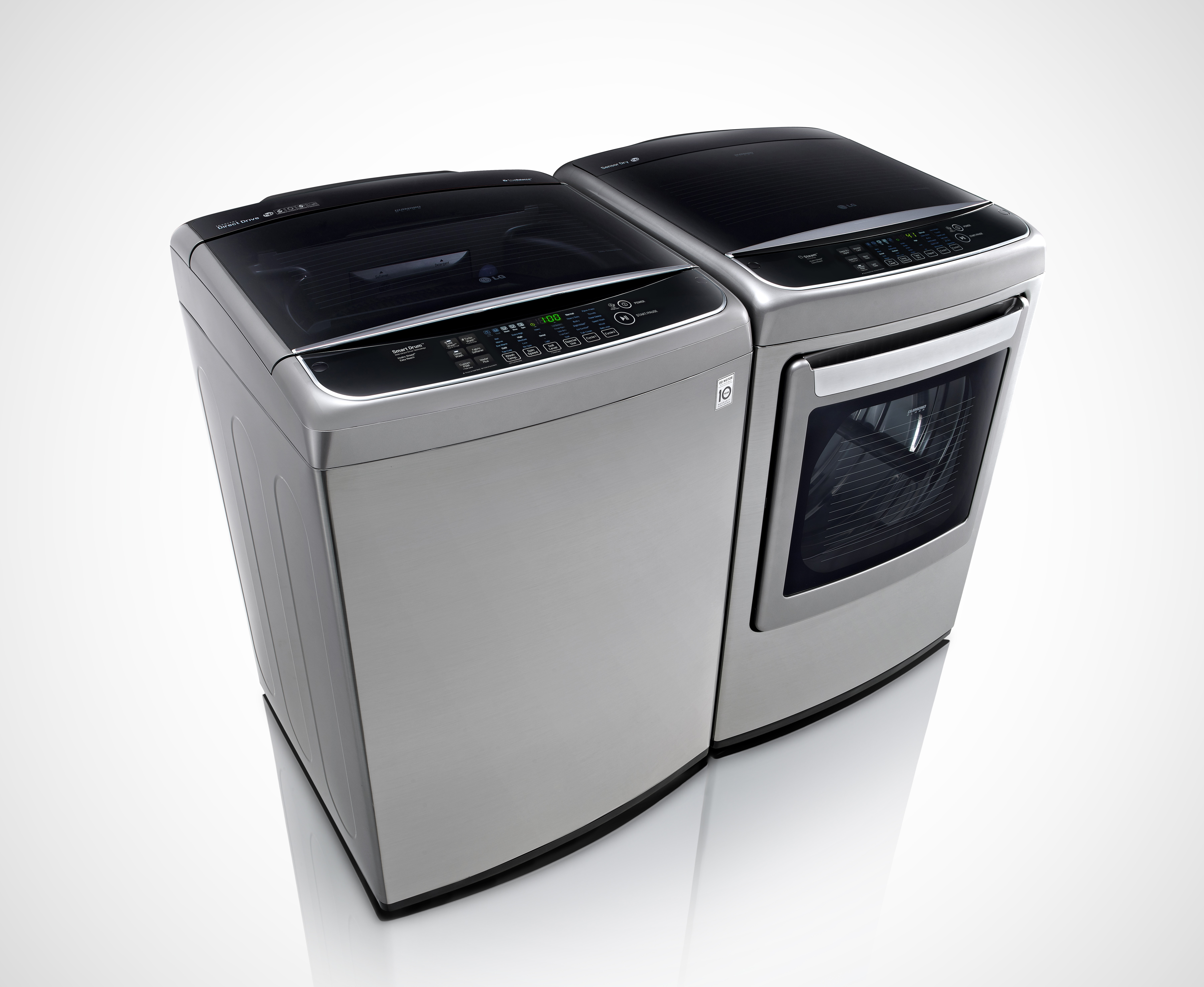 Lg Showcases Mega Capacity Front And Top Loader Washer