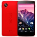 A back and a front view of LG Red Nexus 5.