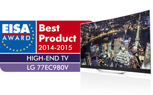 LG OLED TV HONORED FOR THIRD CONSECUTIVE YEAR