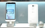 A back and front view of the L Bello smartphone.