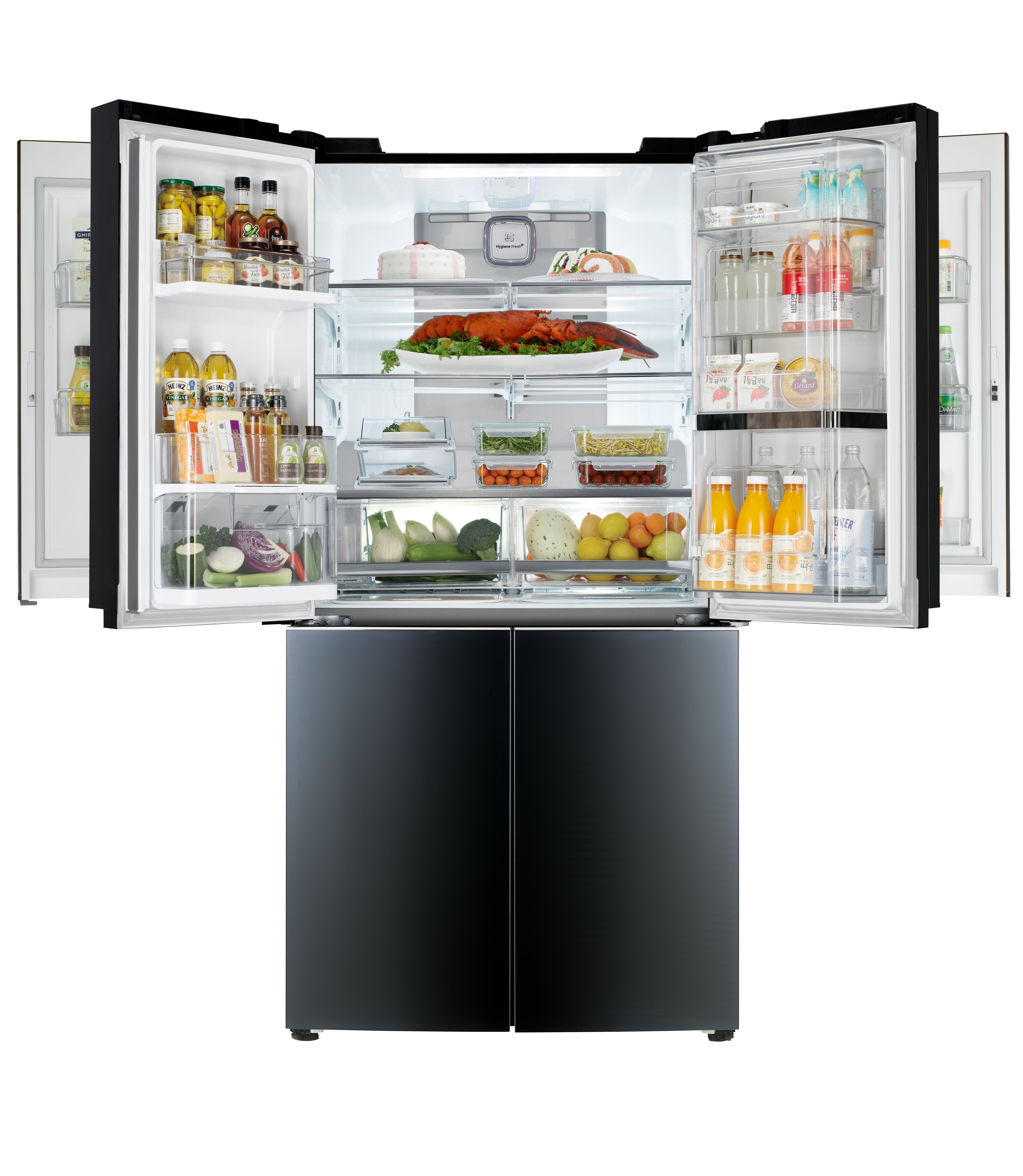 lg to unveil first mega capacity refrigerator with double door in door at ces 2015 lg newsroom. Black Bedroom Furniture Sets. Home Design Ideas
