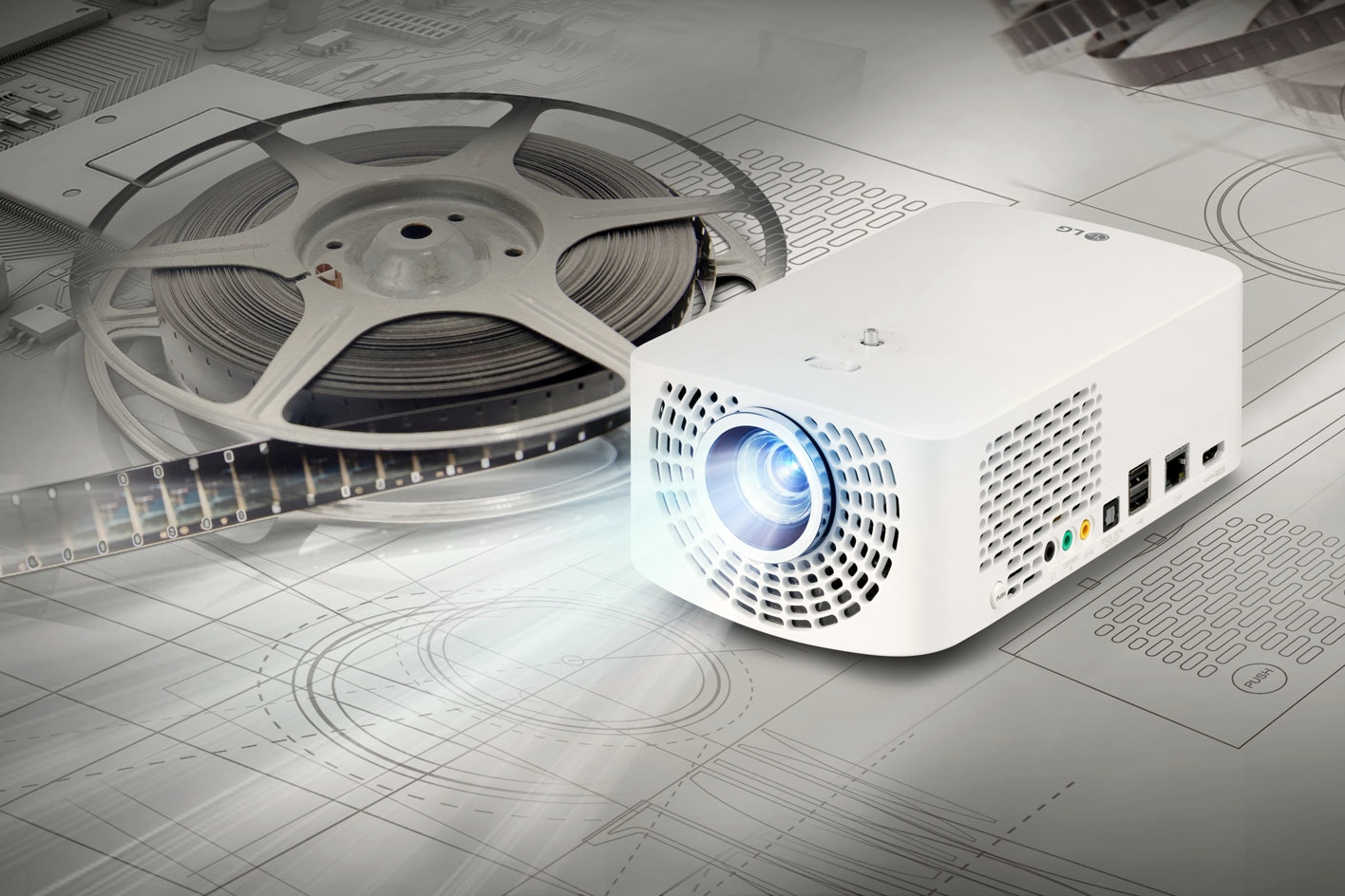 Lg marks led projector leadership with new portable for Latest pocket projector