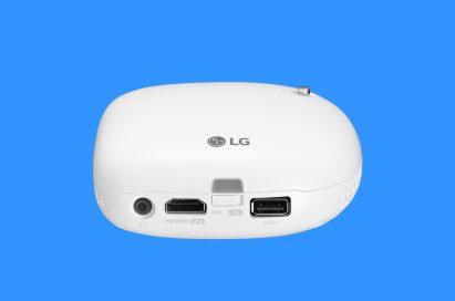 Rear view of LG Minibeam Nano model PV150G