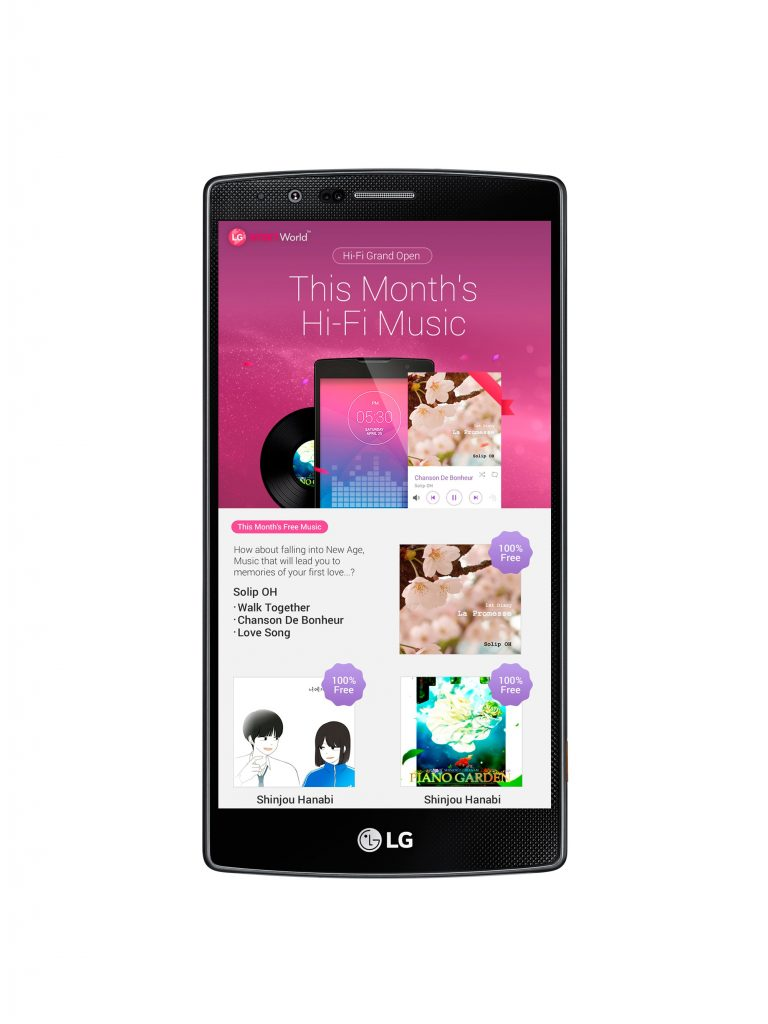 Hi-Fi Music Service on LG SmartWorld