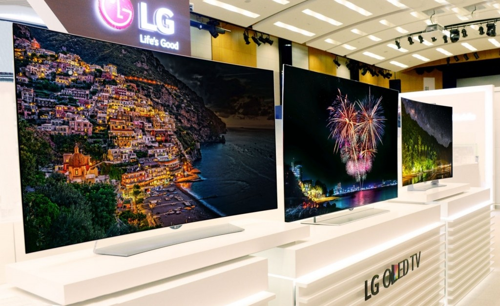 The LG OLED TV Lineup on display at IFA.