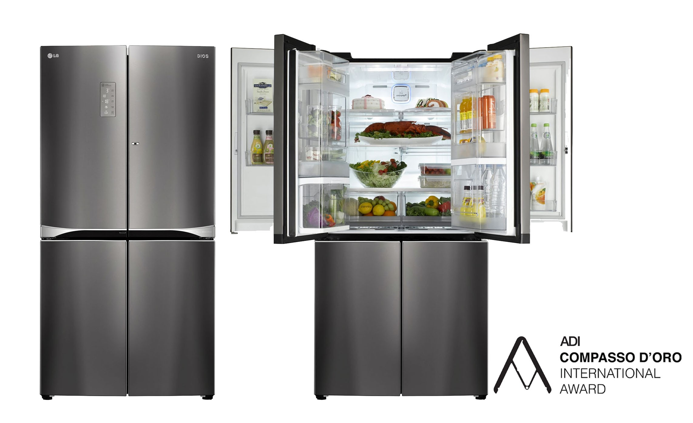 lg wins coveted italian design award for dual door in door refrigerator lg newsroom. Black Bedroom Furniture Sets. Home Design Ideas