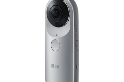 Front view of the LG 360 CAM facing 30 degrees to the left