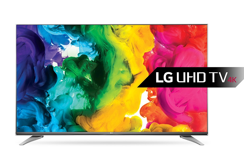 A front view of LG RGBW 4K UHD TV.