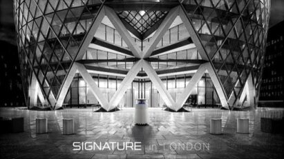 LG SIGNATURE purifier inside 30 St Mary Axe in London