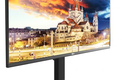 Left-side view of LG 2017 21:9 UltraWide™ Mobile+ Monitor model 34UM79