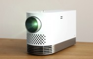 Front view of LG Probeam Laser Projector (model HF80J) facing 15 degrees to the left