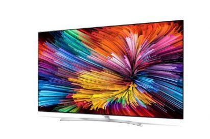 Font view of the LG SUPER UHD TV model SJ9500