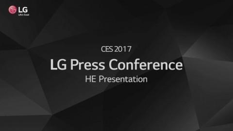 CES 2017: LG PRESS CONFERENCE HOME ENTERTAINMENT PRESENTATION