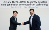 LG AND QUALCOMM TO JOINTLY RESEARCH AND DEVELOP NEXT-GEN CONNECTIVTY SOLUTIONS FOR CARS
