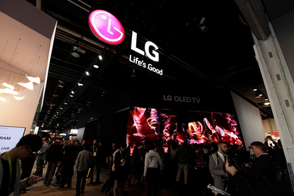 CES 2018 LG Booth Shot 1