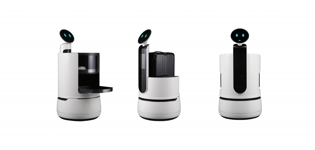 Image of CLOi robot lineup: Serving Robot, Porter Robot and Shopping Cart Robot