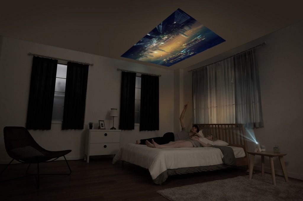 LG MiniBeam Projector_bedroom