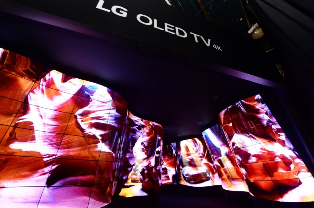 A view of the LG OLED Canyon at CES 2018.