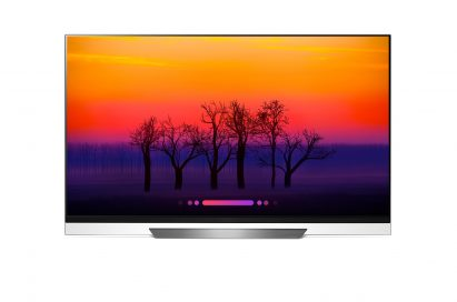 Front view of the AI-enabled LG OLED E8