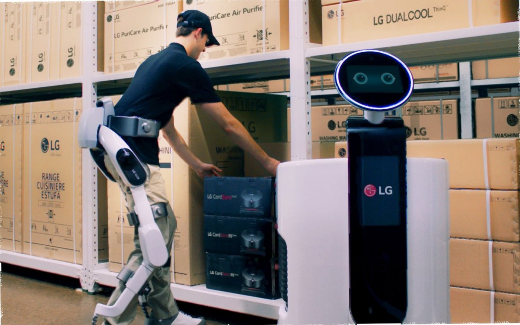LG CLOi SuitBot and LG Shopping Cart Robot