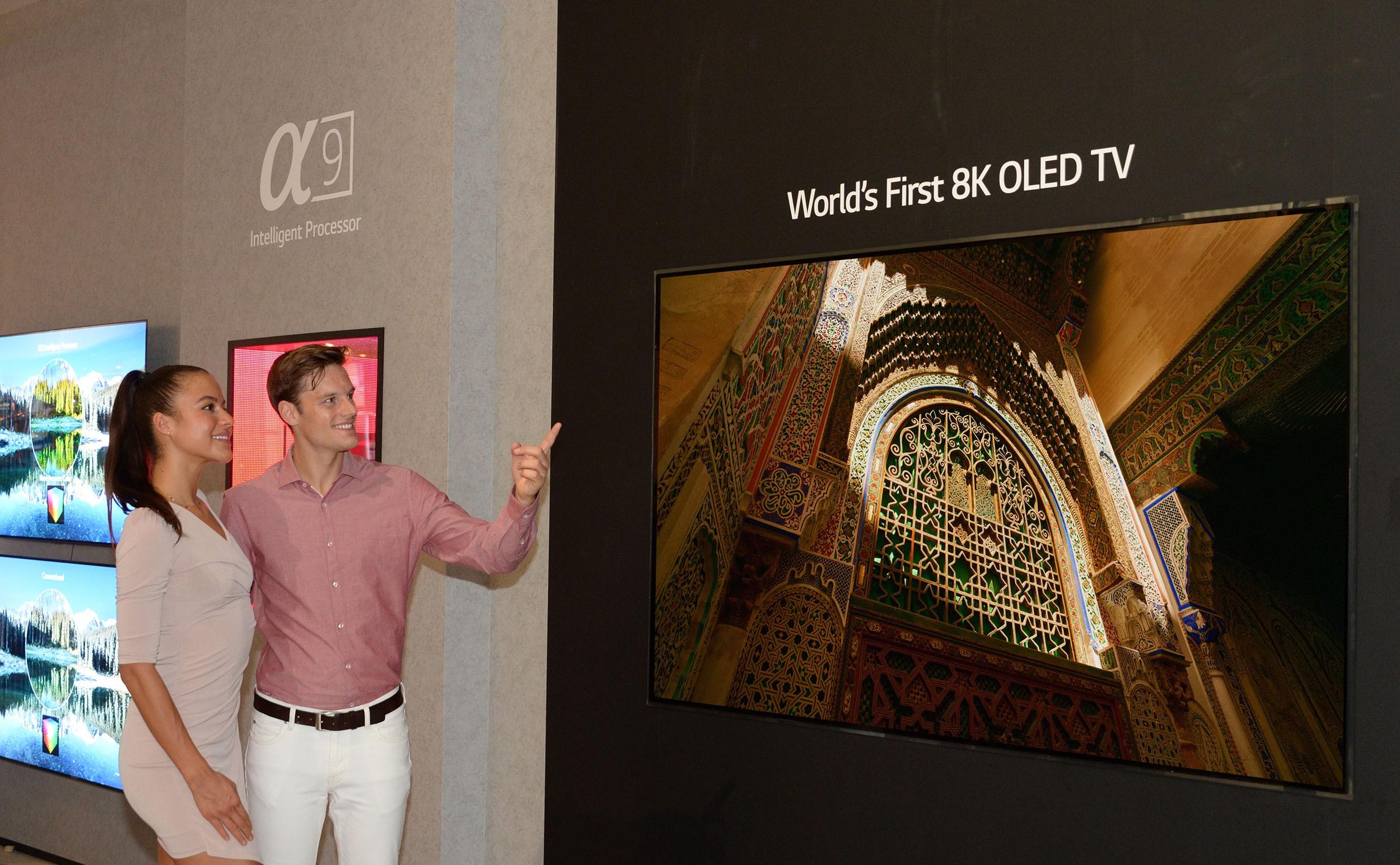 LG ha presentado el primer televisor OLED 8K de 88