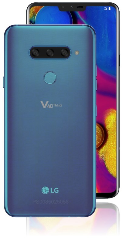 An image of the LG V40 ThinQ smartphone