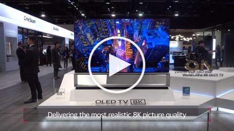 CES2019 : LG 8K OLED TV