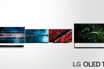 A front view of LG OLED TV models W9, E9, C9, Z9