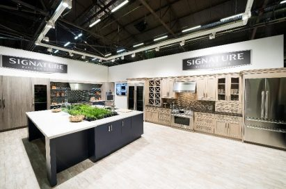 An inside view of the ultra-luxury Signature Kitchen Suite booth