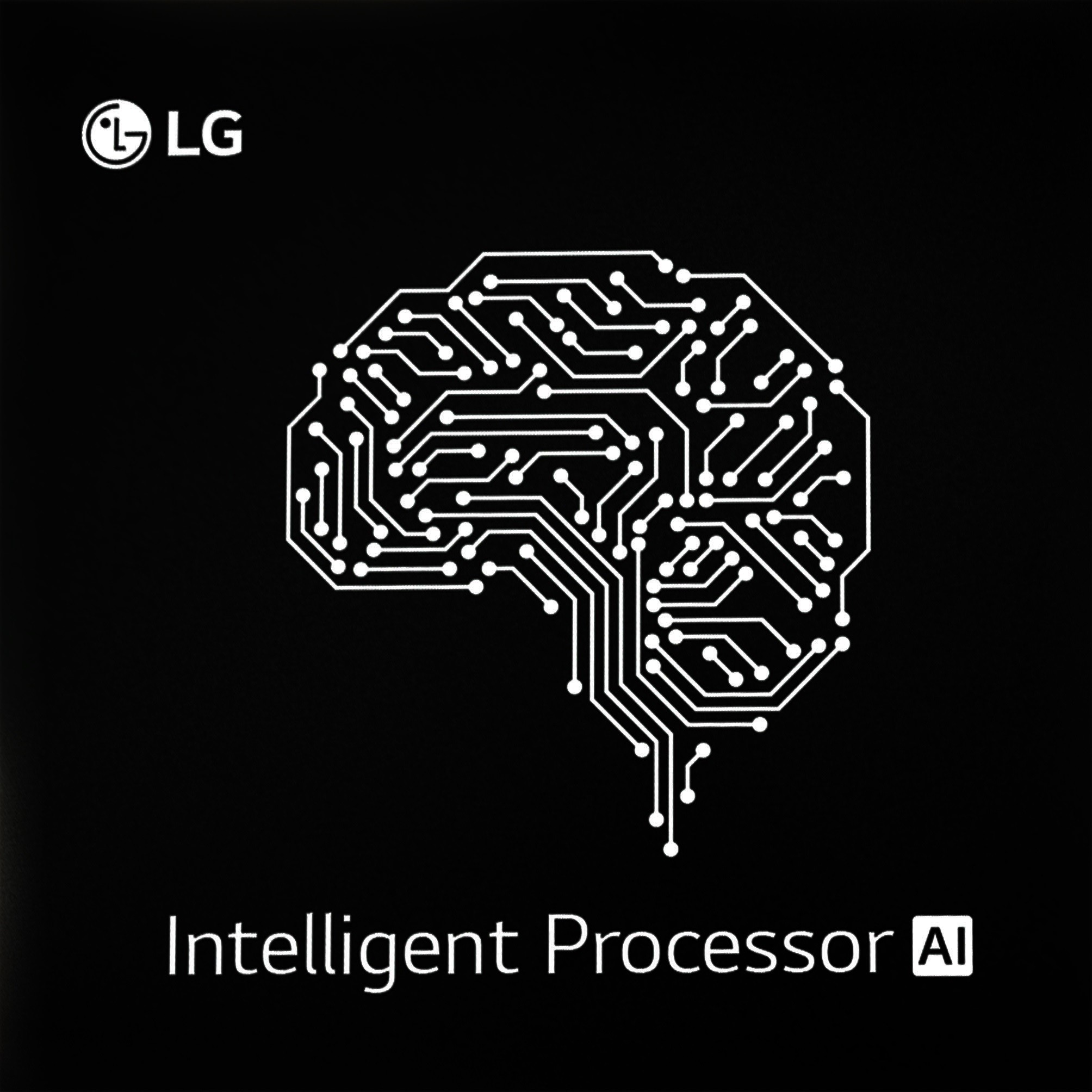 The logo of LG's Intelligent Processor AI Chip.