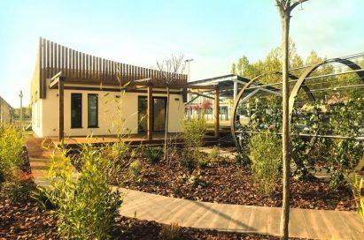 An outside view of LG LG Hanok ThinQ & Passivhaus