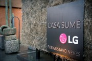The nameplate of LG's Casa Sume, another name of LG's Planet Home