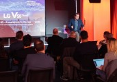 The LG V50 ThinQ launch event held in London at the end of May