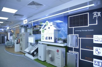 An inside view of LG's Dubai Air Conditioning Academy which was designed to train technicians, dealers and contractors