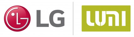 Logos of LG Electronics and LUMI