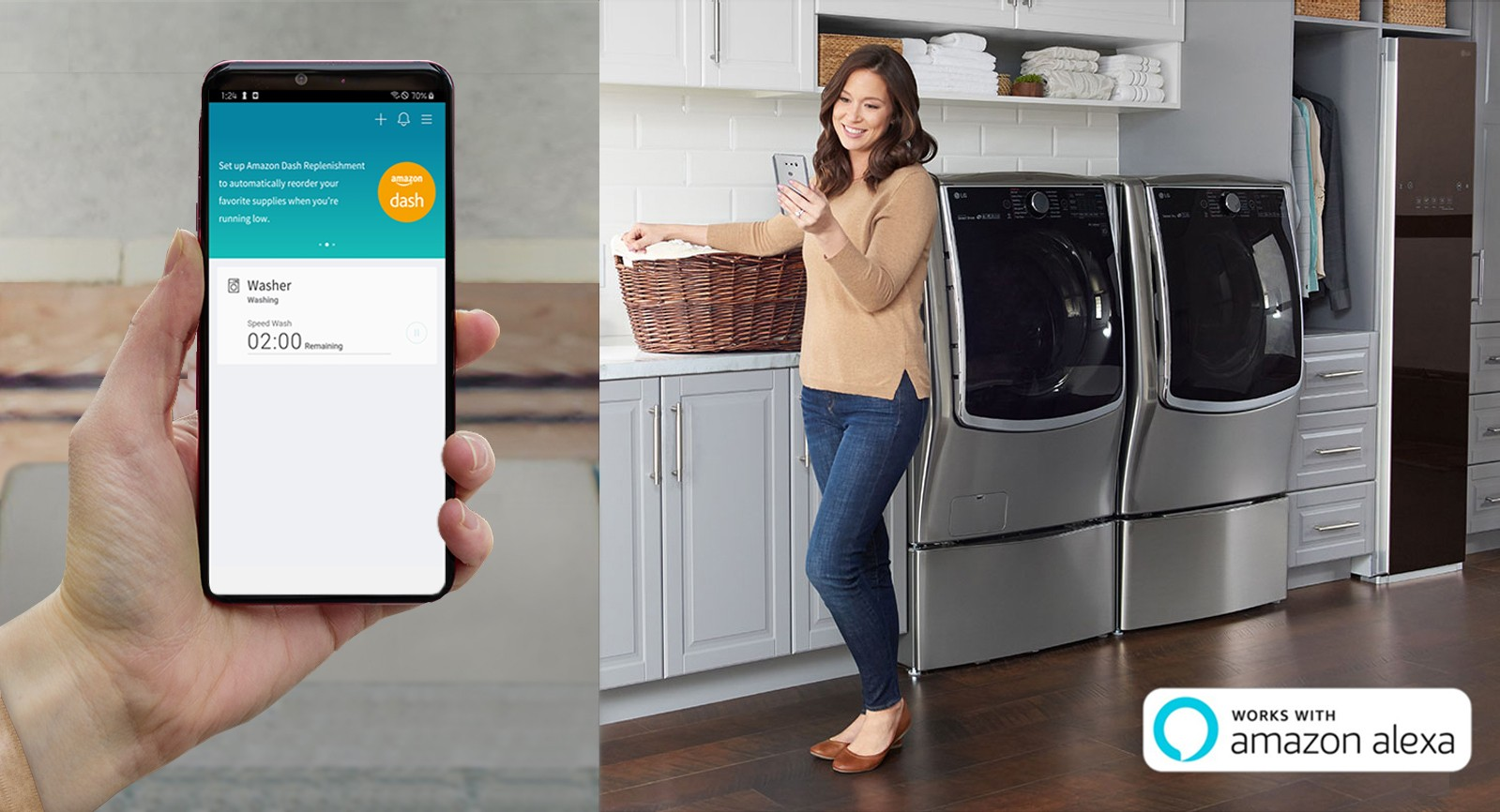 LG THINQ WITH AMAZON DASH REPLENISHMENT TAKES HOME