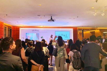 A snapshot of LG Singapore's media tour for the LG Pra.L