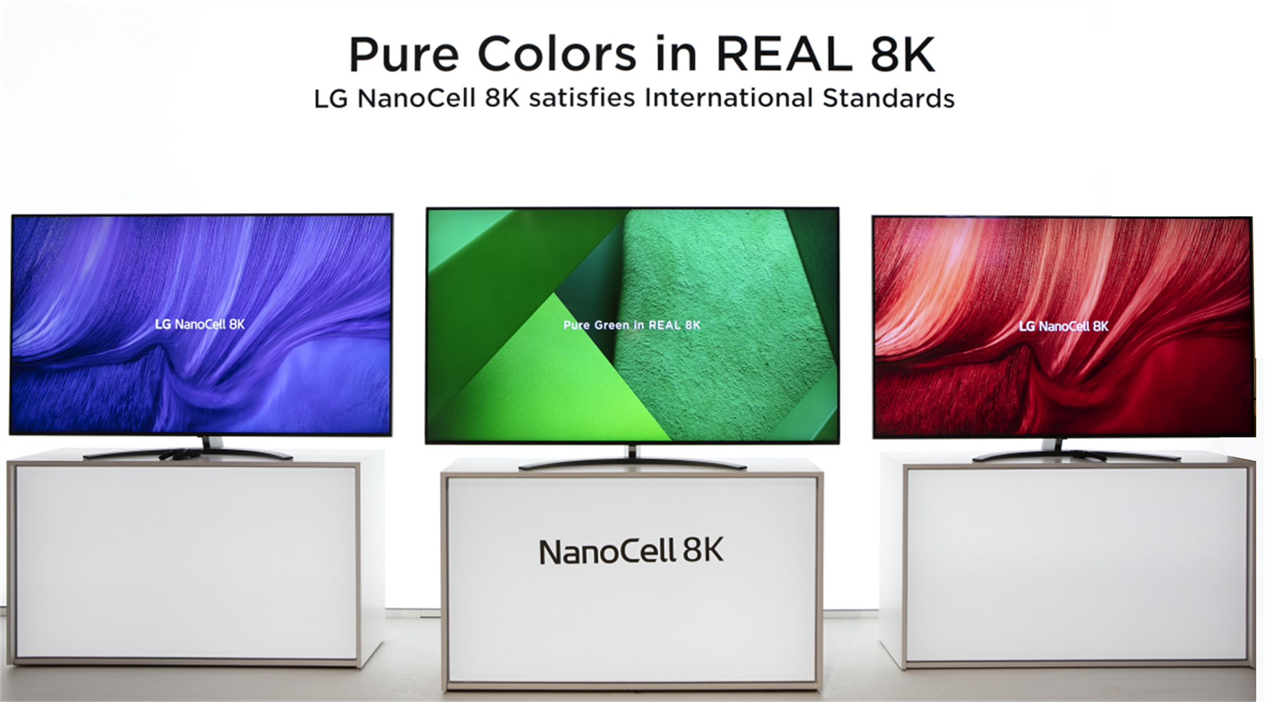 A concept image of the LG NanoCell 8K TVs that claims the TV satisfies international standards