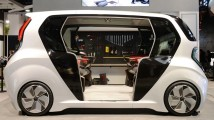 A look inside the Connected Car Zone, with a close-up of a futuristic car that boasts a more personalized in-car experience thanks to LG's connected car solution