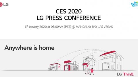CES 2020 : LG PRESS CONFERENCE