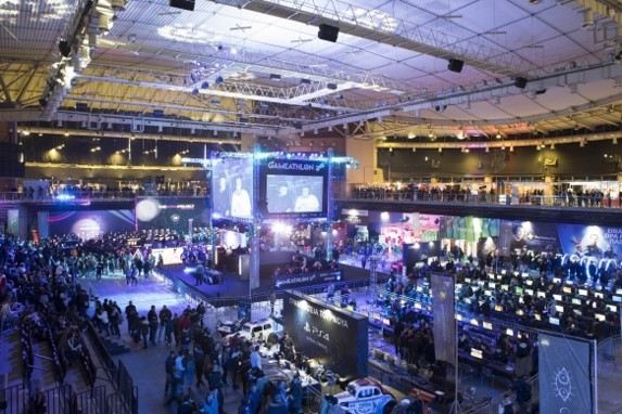 A view overlooking the Gameathlon 2020 arena, Greece's most popular gaming event which was held in January.