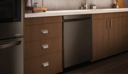 An image showing some of LG's built-in home appliances