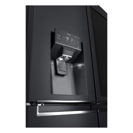 Close-up view of the water dispenser of LG InstaView Door-in-Door refrigerator with UVnan