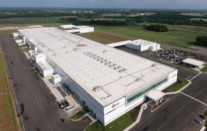 An overlooking view of LG's USD 360 million washing machine factory located in the U.S.