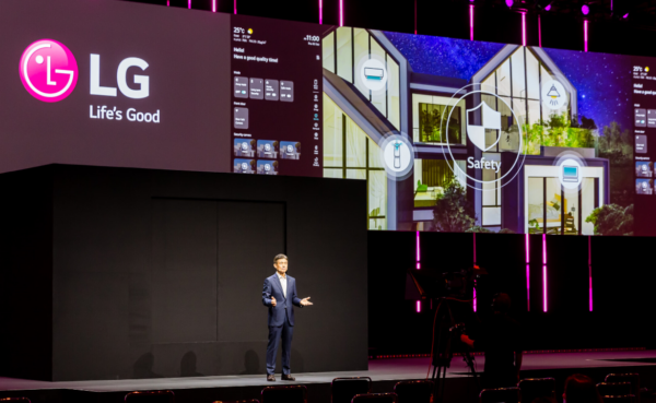 LG's president & CTO Dr. I.P. Park introduces LG Electronics' Life's Good from Home vision for the future during IFA 2020